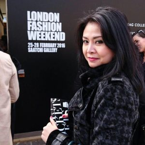Leny McDonnell di acara London fashion weekend